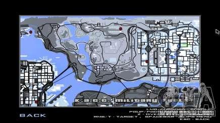 Mapa del juego de invierno para GTA San Andreas