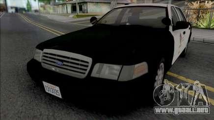 Ford Crown Victoria 2007 CVPI LAPD GND v2 para GTA San Andreas