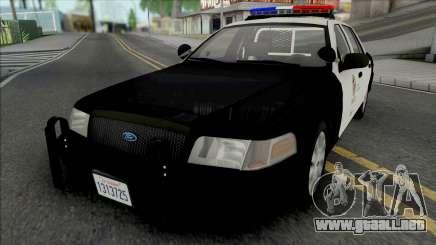 Ford Crown Victoria 2011 CVPI LAPD v2 para GTA San Andreas