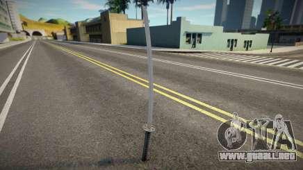 Quality Katana para GTA San Andreas