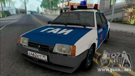 VAZ-21099 Milicia de Moscú de los años 90 para GTA San Andreas