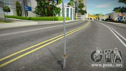 Remastered katana para GTA San Andreas