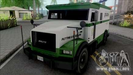 GTA V Brute Stockade [VehFuncs] para GTA San Andreas