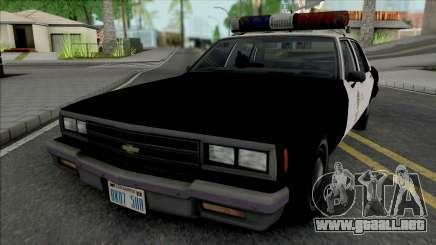Chevrolet Impala 1986 LAPD para GTA San Andreas