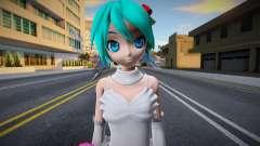 PDFT Hatsune Miku White Dress para GTA San Andreas