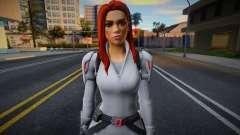 Fortnite - Black Widow White Suit para GTA San Andreas