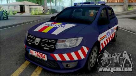 Dacia Sandero 2018 Politia para GTA San Andreas