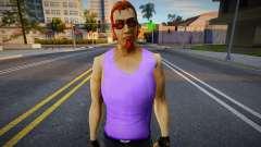Postal Dude en camiseta morada para GTA San Andreas