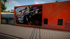 Mural del BMW M3 GTR Need For Speed Most Wanted para GTA San Andreas