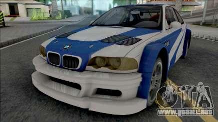 BMW M3 GTR (NFS Most Wanted Intro Cutscene) para GTA San Andreas