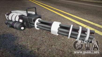 White Tron Legacy - Minigun para GTA San Andreas