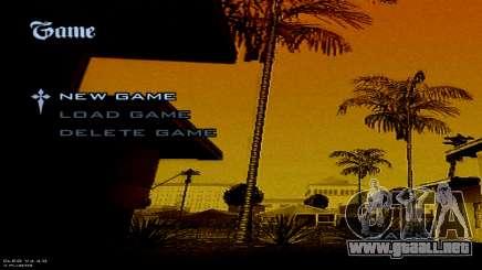 Full Menu Background Image para GTA San Andreas